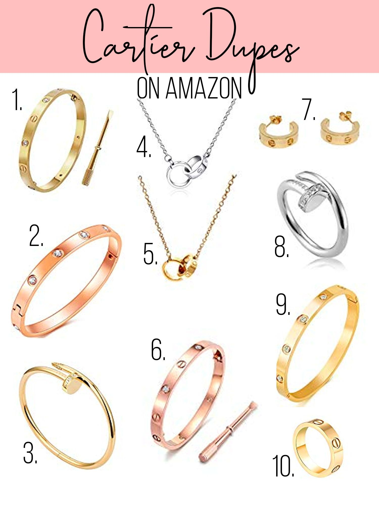 Cartier Amazon Dupes in 2020 Dupes, Cartier love ring