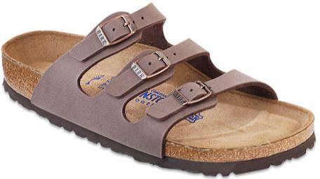 7b2086483345 Birkenstock Women s Florida Birkibuc Soft Footbed - Mocha Birkibuc Sandals
