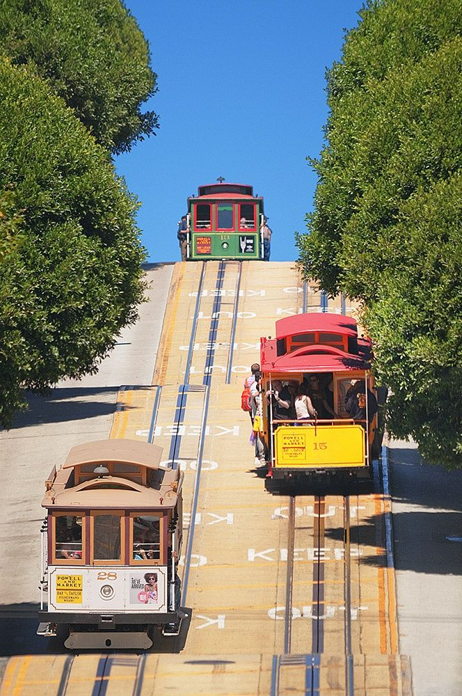Powell Street Cable Cars San Francisco California Http Www