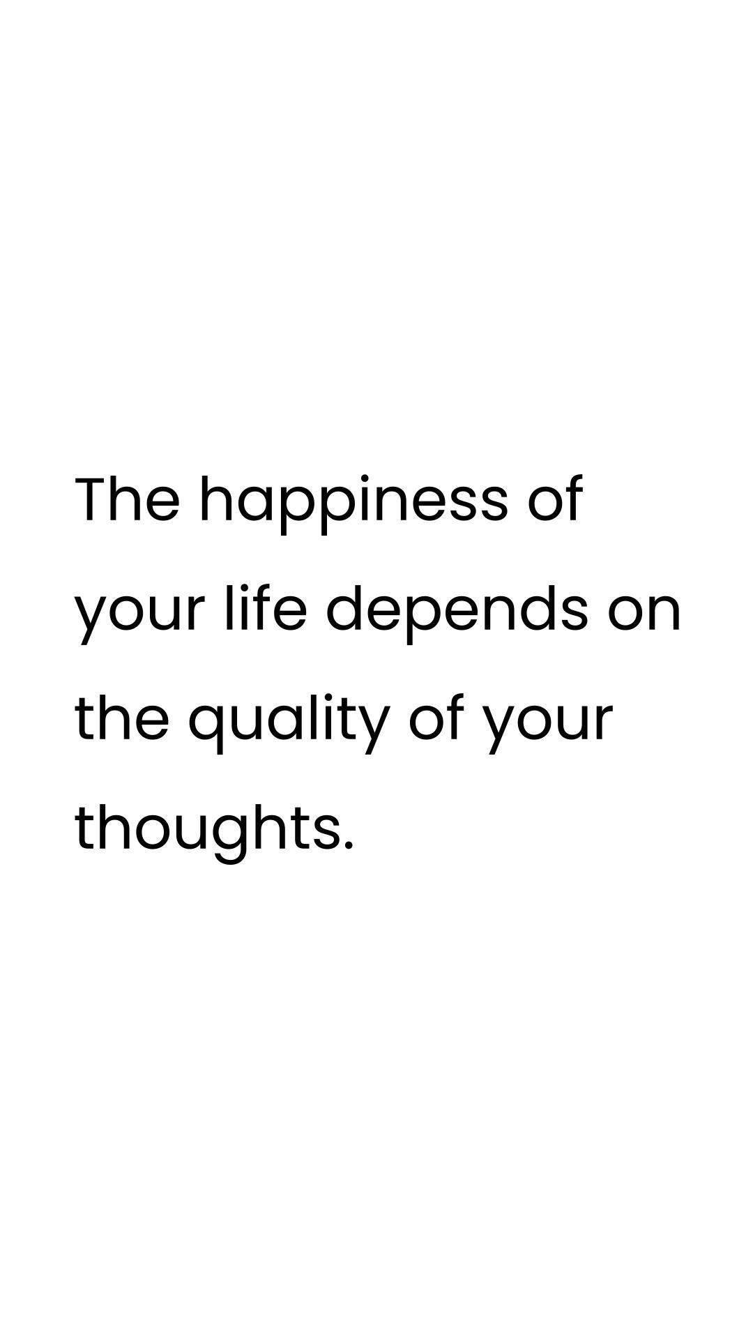 What type of thoughts do you have daily?