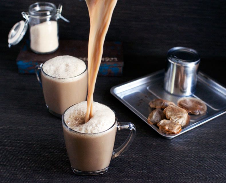 Image result for Teh tarik is frothed black tea