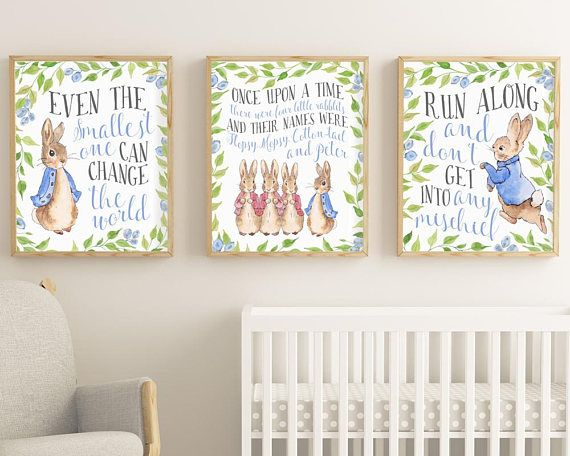 Peter Rabbit Print Set Peter Rabbit Prints Set Of 3 Prints Peter