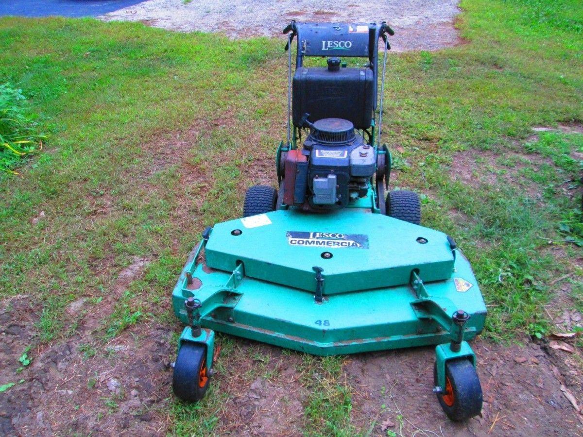 48 Lesco Walk Behind Mower Runs Great Walk Behind Mower Best Lawn Mower Mower