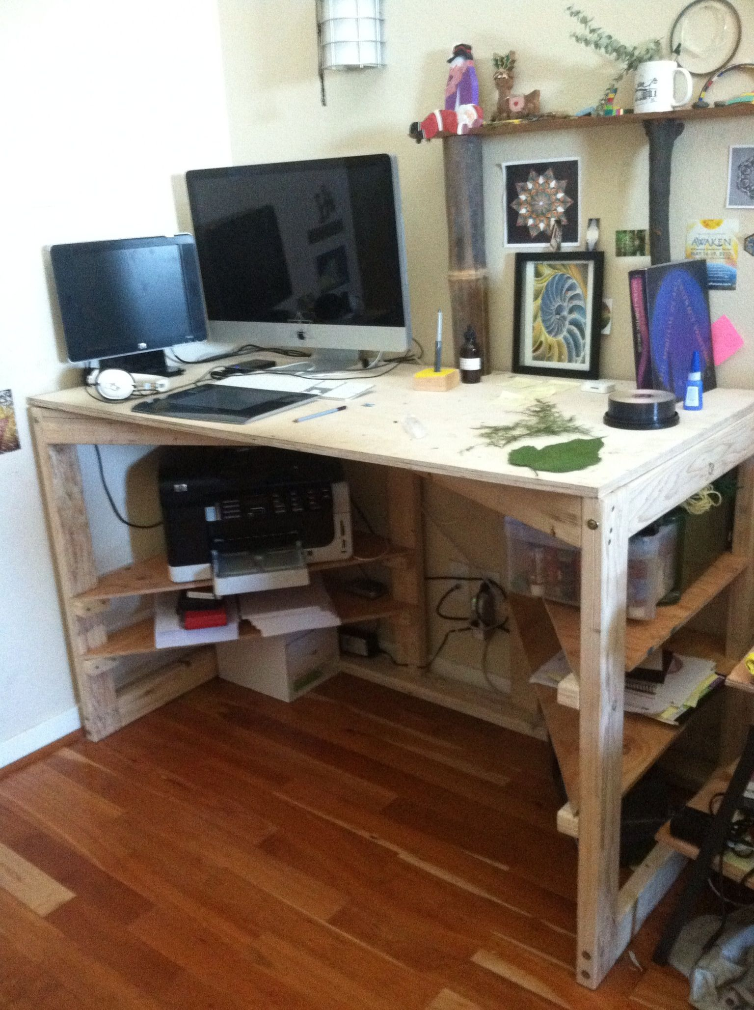 Simple Plywood And 2x4 Desk In 2019 Ebay Office Diy