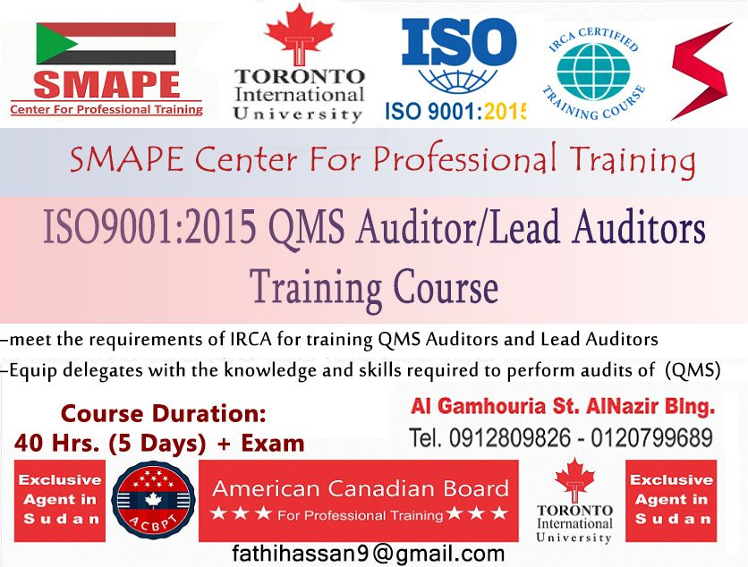 Iso9001 2015 Qms Auditor Lead Auditors Training Course Training Courses Auditor Train