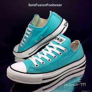 Converse-Womens-All-Star-Mint-Blue-Trainers-size-6-VTG-Pumps-US-8-EU-39-Mens 6564276d3