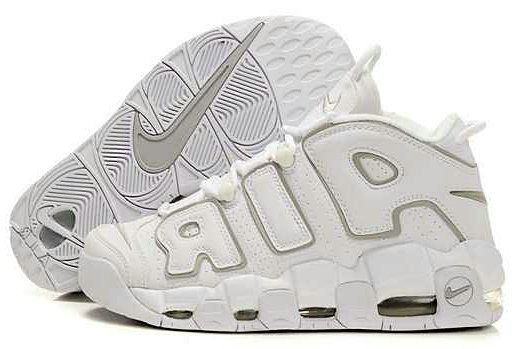 NBA Basketball Nike Air More Uptempo White Grey - Scottie Pippen Shoes