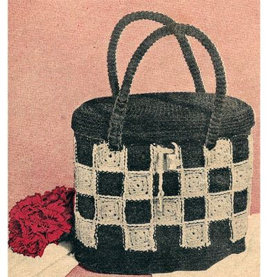 Checkerboard Handbag Crochet Pattern Crochet Patterns And Tote