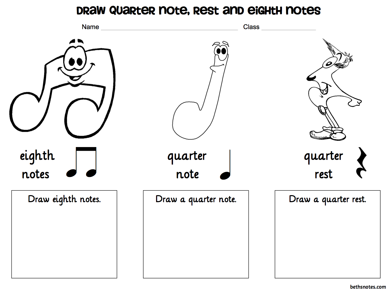 Beth S Music Notes 1st Grade With Images