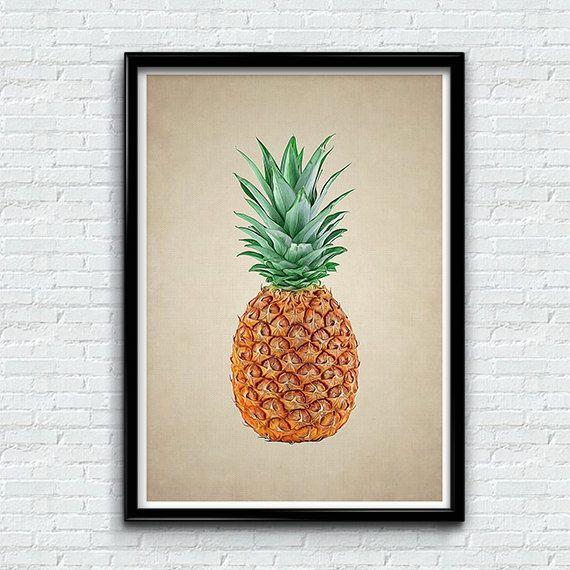 Fruit Wall Decor pineapple prnit tropical wall art decor fruit wall artmunart