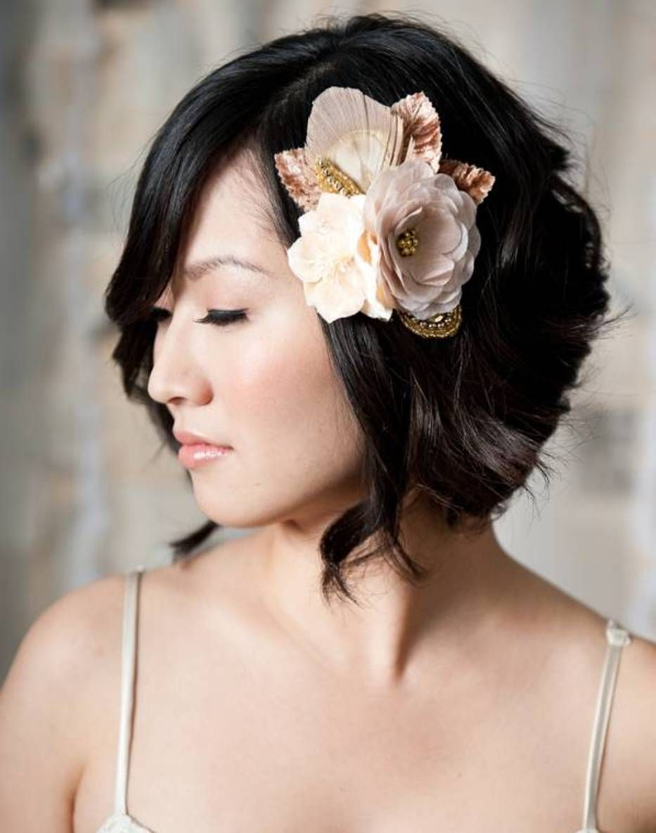 bridal hairstyles for short hair : simple hairstyle ideas for women