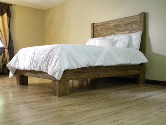 Cama de plataforma plataforma cama cama por JNMRusticDesigns | hogar ...