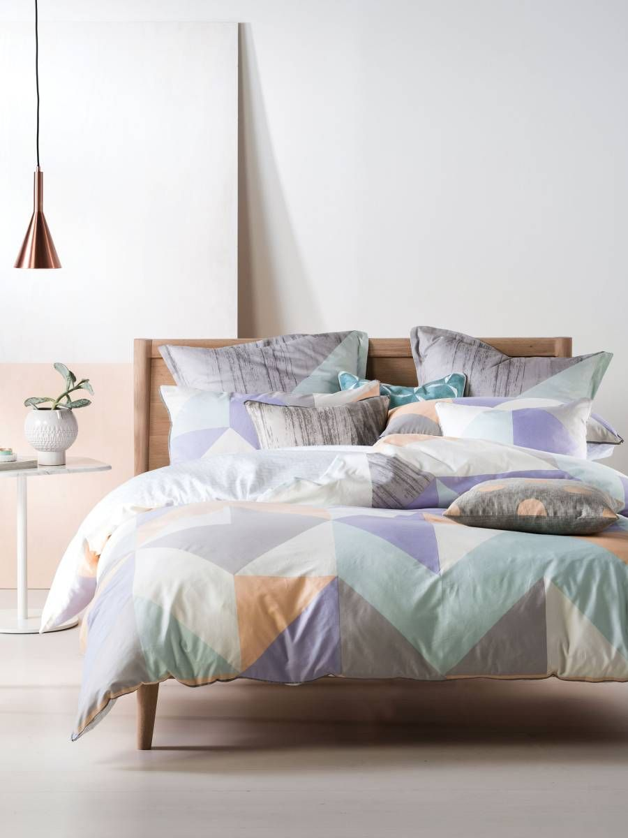 Linen House Quilt Covers Equinox Pastel Single Quilt Cover
