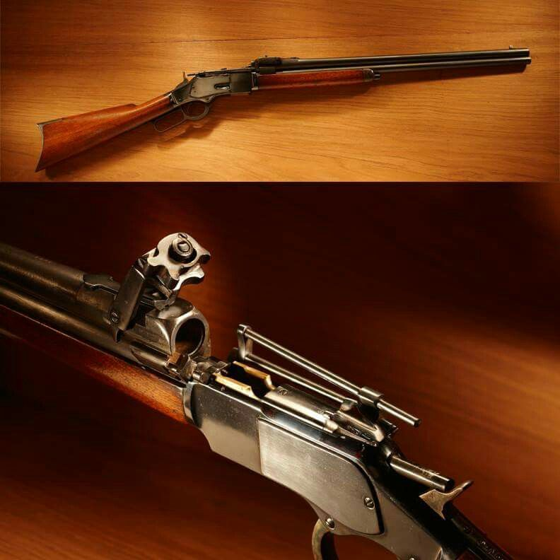 Winchester's model 1873 combination gun is chambered for 38