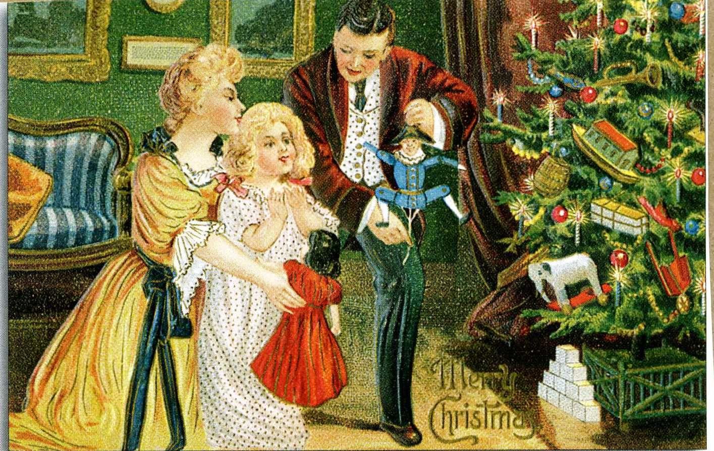 vintage christmas images free download