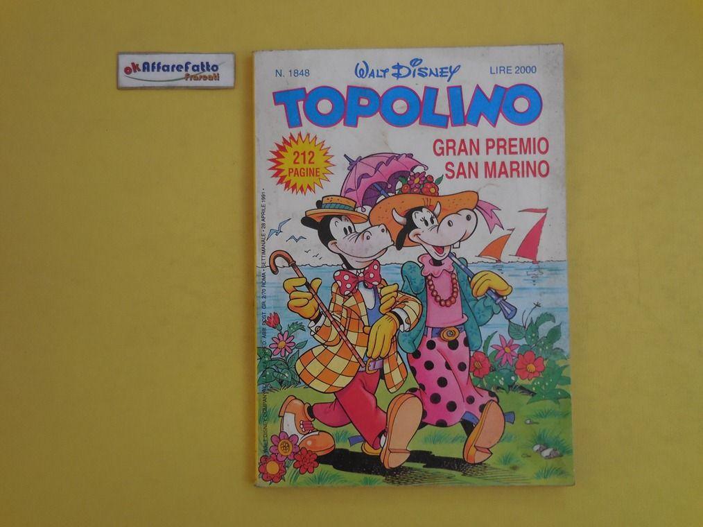 J 5224 RIVISTA A FUMETTI WALT DISNEY TOPOLINO N 1848 DEL 1991 - http://www.okaffarefattofrascati.com/?product=j-5224-rivista-a-fumetti-walt-disney-topolino-n-1848-del-1991