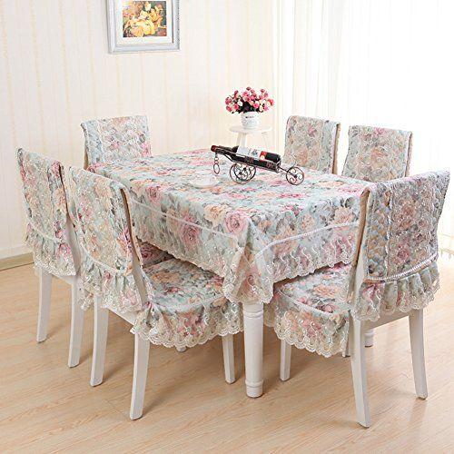 European Table Cloth Set Cushions Dining Chair Covers Tablecloth