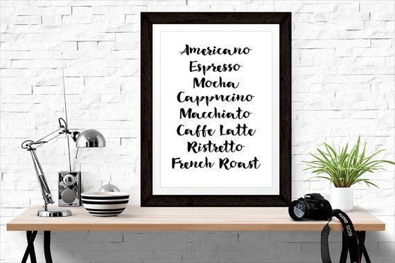 Starbucks Stock Quote Amusing White & Black Coffee Print Types Of Coffee Addict  Starbucks Quote