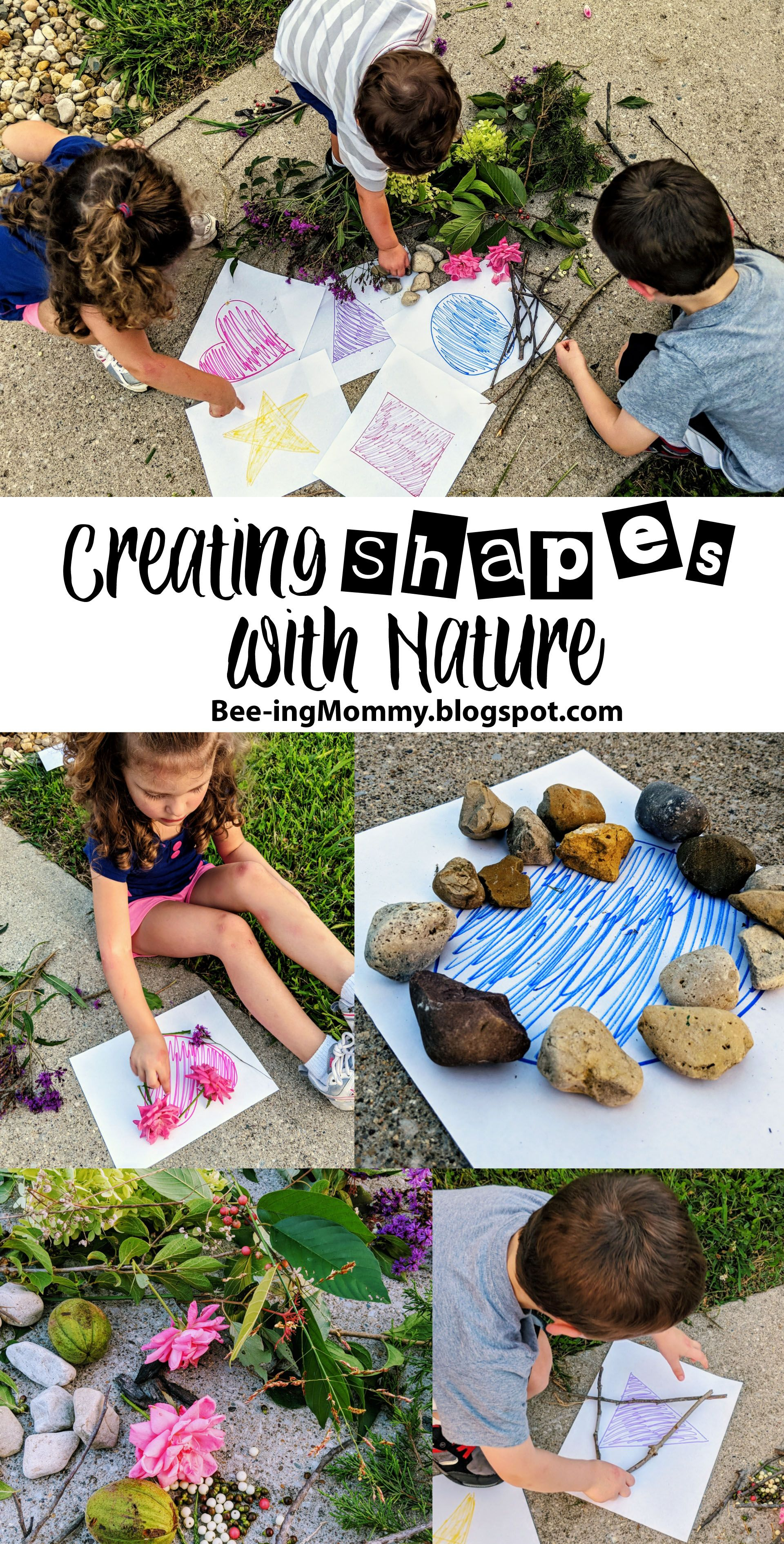 Creating Shapes With Nature Nature School Nature Activities Nature Education