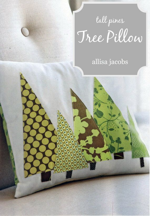 Modern Tree PILLOW COVER Christmas Trees in Green by allisajacobs. & PDF SEWING Pattern Instant Download DIY Pillow by allisajacobs ... pillowsntoast.com