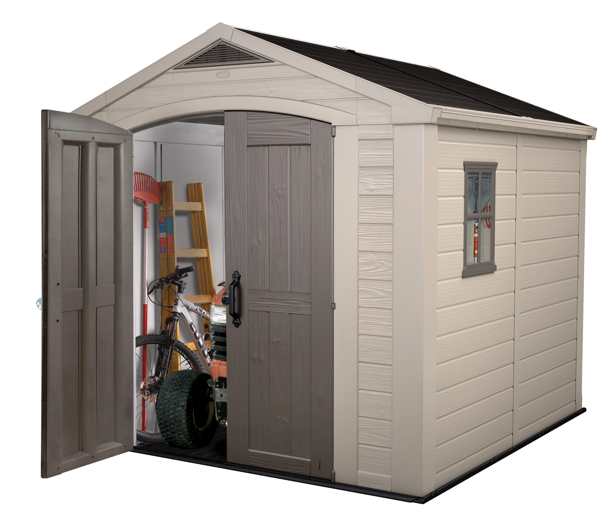 Not just a shed a Storage Solution. The Factor 8x8 Shed from Keter //za.keter.com/products/sa-store-factor-88  sc 1 st  Pinterest & Not just a shed a Storage Solution. The Factor 8x8 Shed from Keter ...