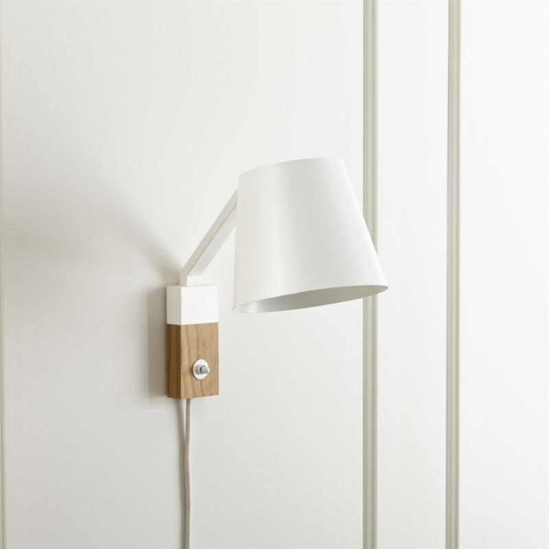Jax White Sconce Crate And Barrel