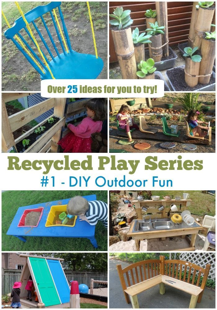 play ideas using recycled materials outdoor play ideas for kids pinterest spiele drau en. Black Bedroom Furniture Sets. Home Design Ideas