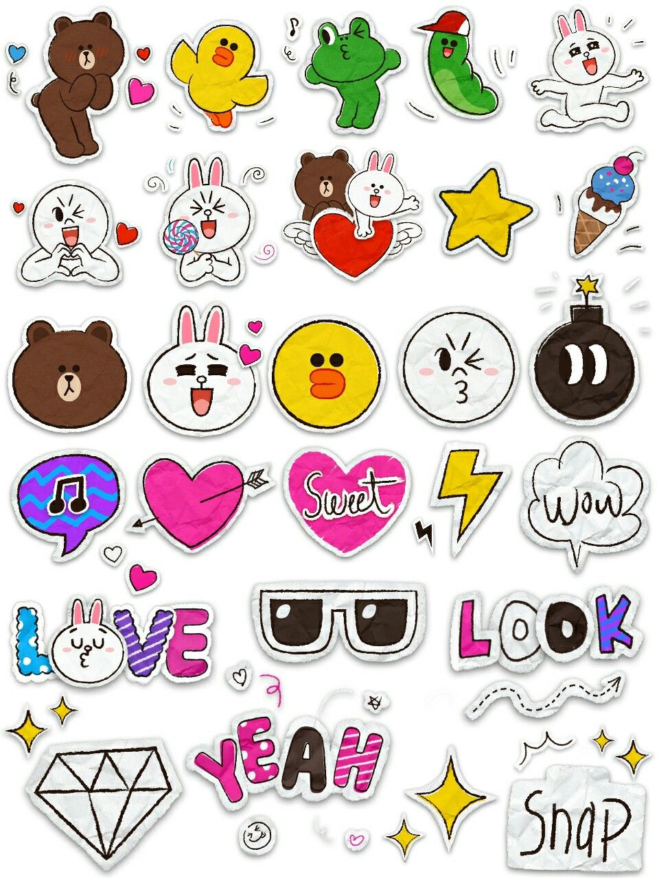 Epic image pertaining to cute printable stickers