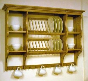PINE WALL MOUNTED PLATE RACK - FURNITURE #plateracks