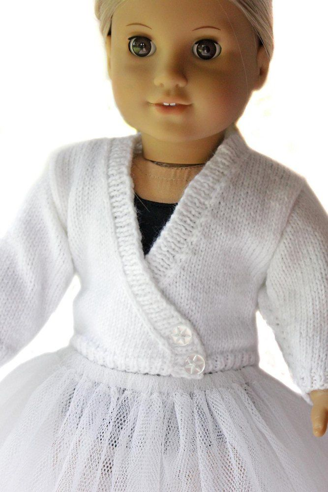 Ballet Sweater for 18 inch Dolls Knitting pattern