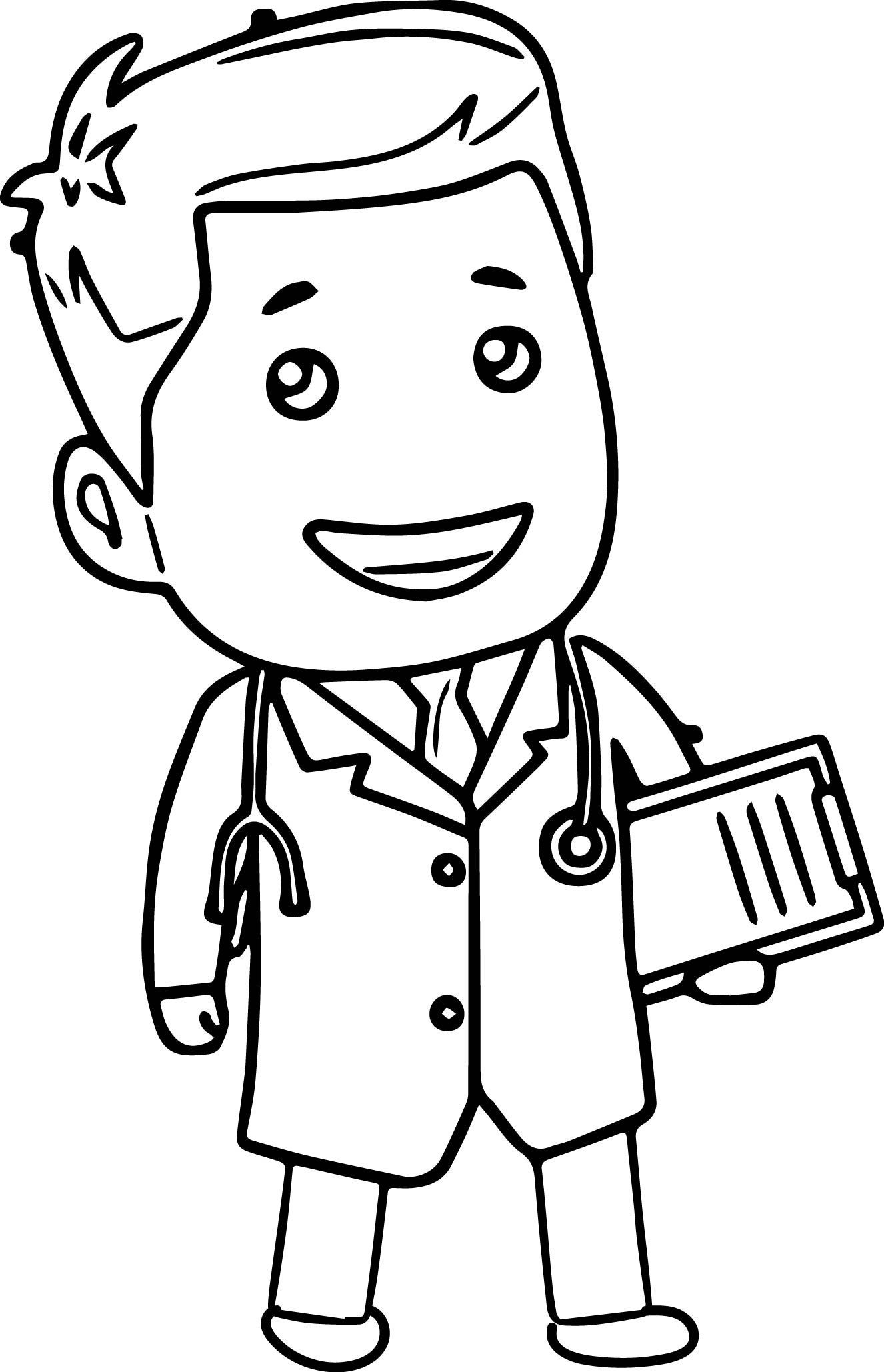 Doctor Tools Clipart Doctor Cartoon Coloring Page