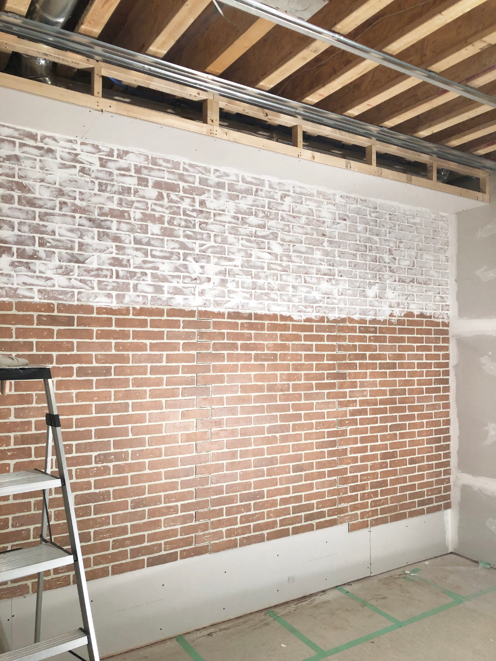 How To Diy A Faux Brick Wall With A German Schmear In 2020 Faux Brick Walls Brick Wall Bedroom Brick Wall Paneling
