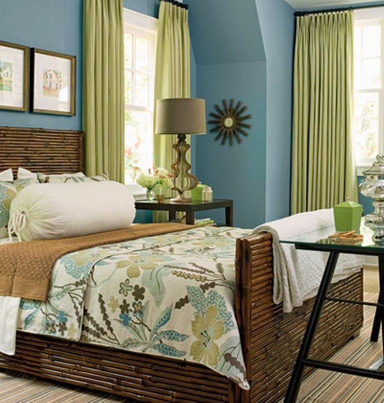 Perfect Blue Bedroom: A Pretty Blue And Green Bedroom. I Like It, Maybe A Guest Room