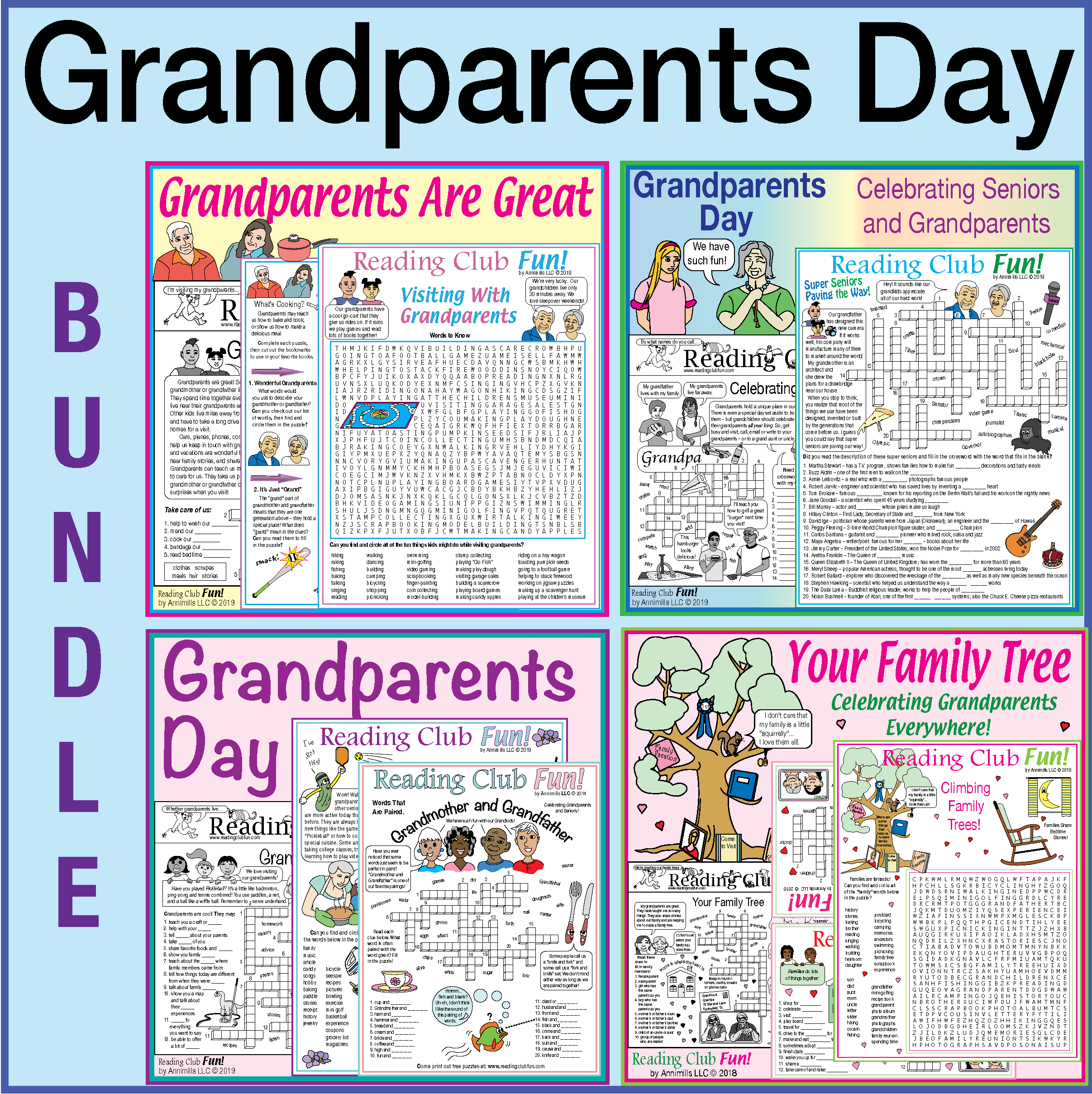 Grandparents Day Bundle 4 Great Puzzle Sets With Images