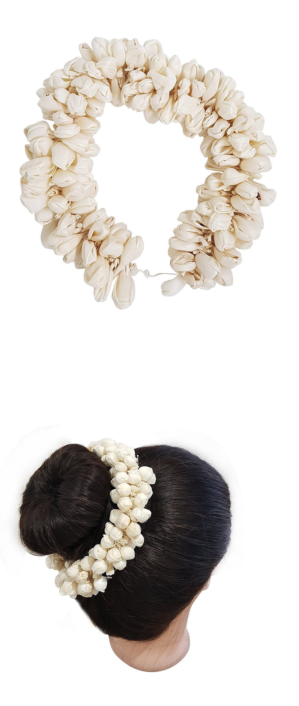 Indian Women Bridal Artificial Hair Accessories Strand Gajra For Hair Bun Flower