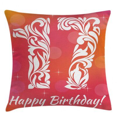 East Urban Home 17th Birthday Indoor / Outdoor 28 Throw Pillow Cover | Wayfair #17thbirthday