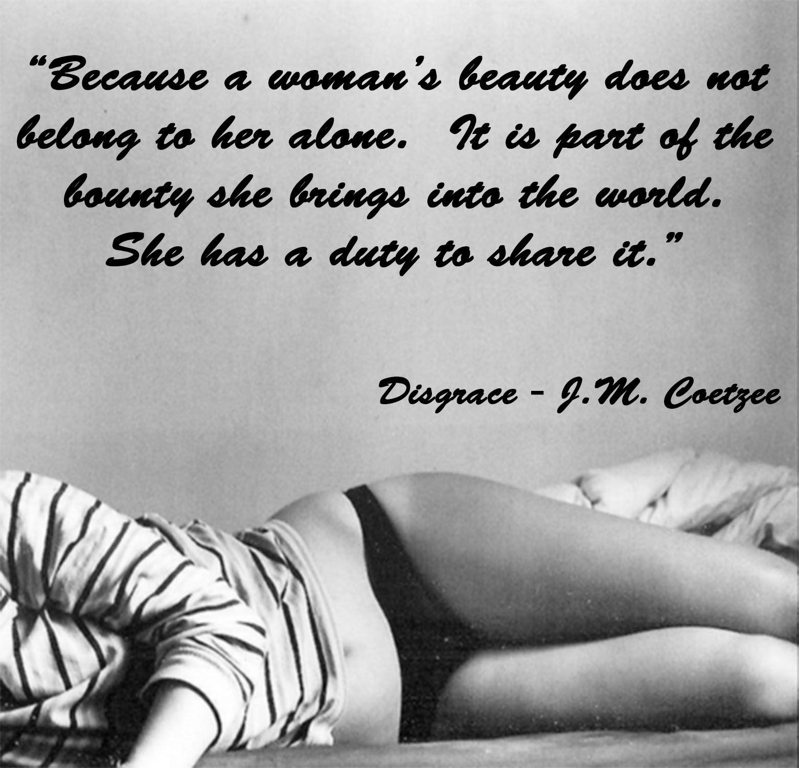 disgrace jm coetzee De controversiële roman disgrace van nobelprijswinnaar jm coetzee is verfilmd door de australiër steve jacobs coetzee vertrouwde erop dat die niet zou.