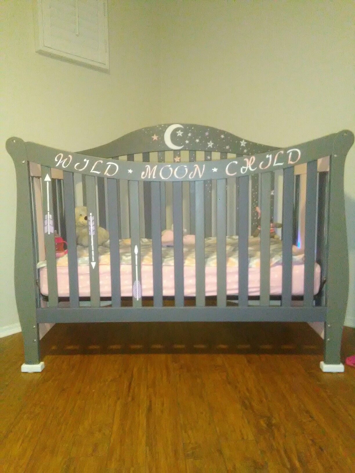 We Havenu0027t Seen A Crib That Has Been Personalized So We Personalized One  For My Daughter Using All Baby Safe Non Toxic Paint.