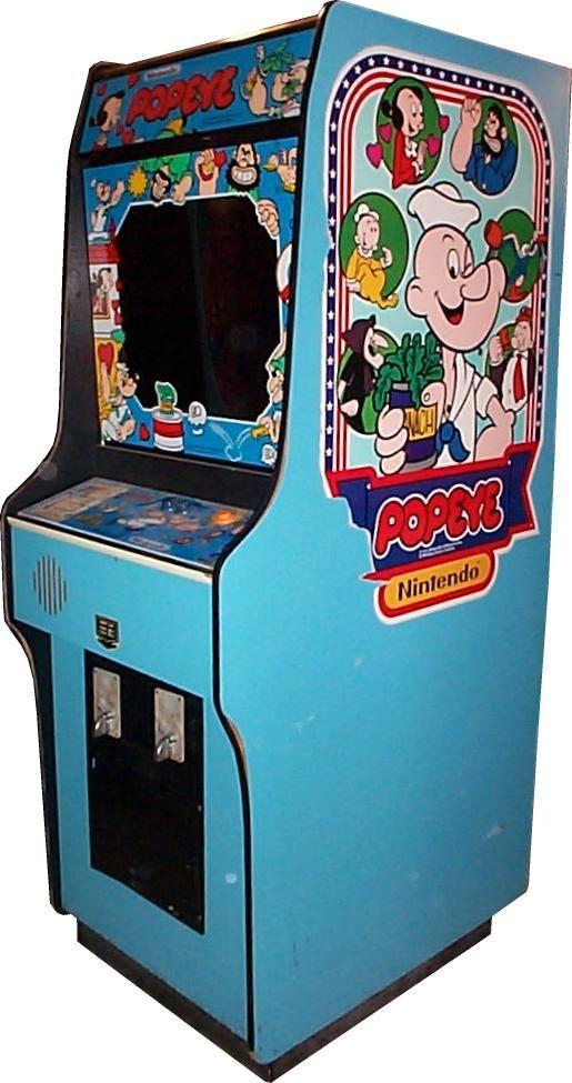 Popeye Arcade Cabinet The Arcade Is On Fire Retro Arcade