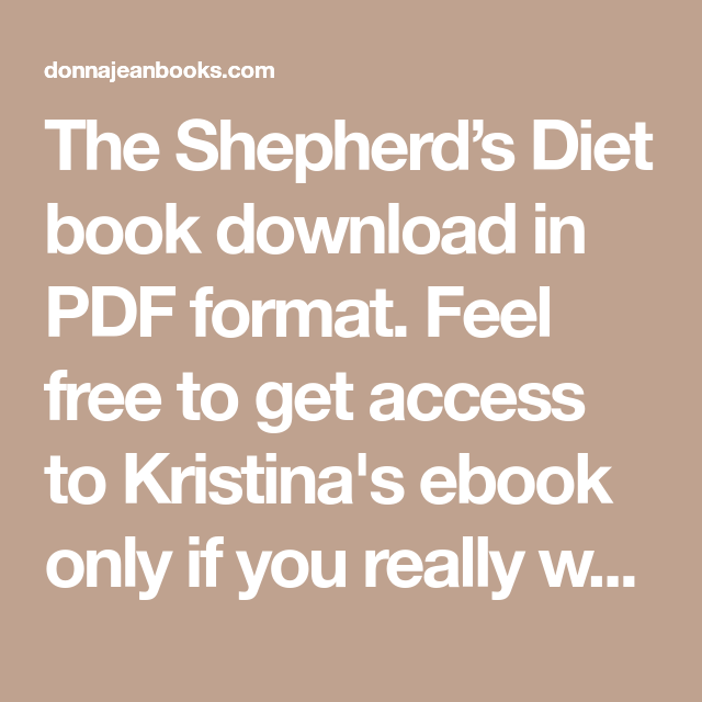 shepards diet free download
