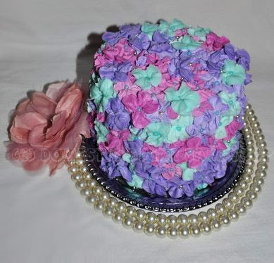 Domestic Sugar - Buttercream flower cake.  Love the colors