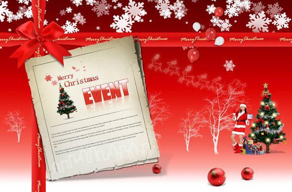 Christmas Card Psd Material Download Christmas Card Template Psd Template Free Card Templates