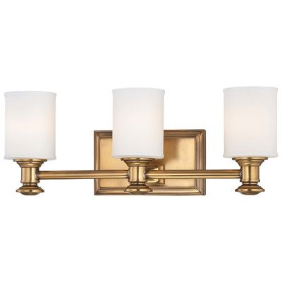 Shop For The Minka Lavery Liberty Gold 3 Light Bathroom Vanity Light With  Etched Opal Shade From The Harbour Point Collection And Save.
