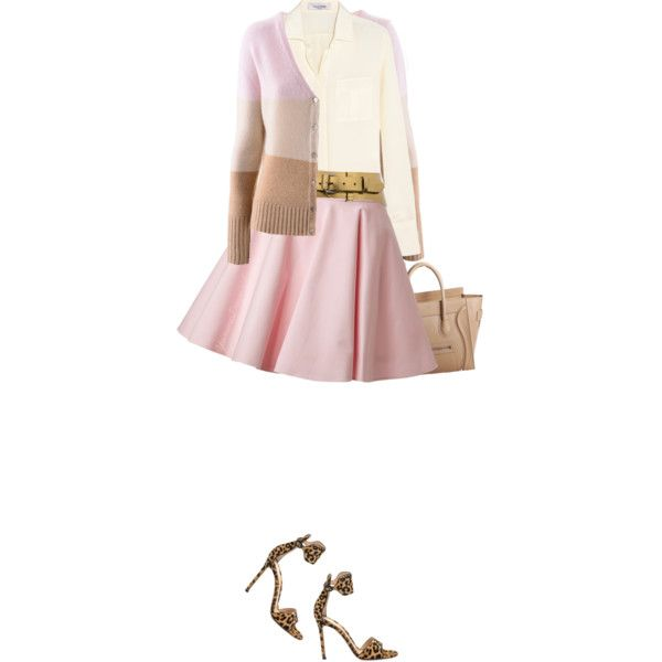"""Valentino Pink Circle Skirt"" by yasminasdream on Polyvore"