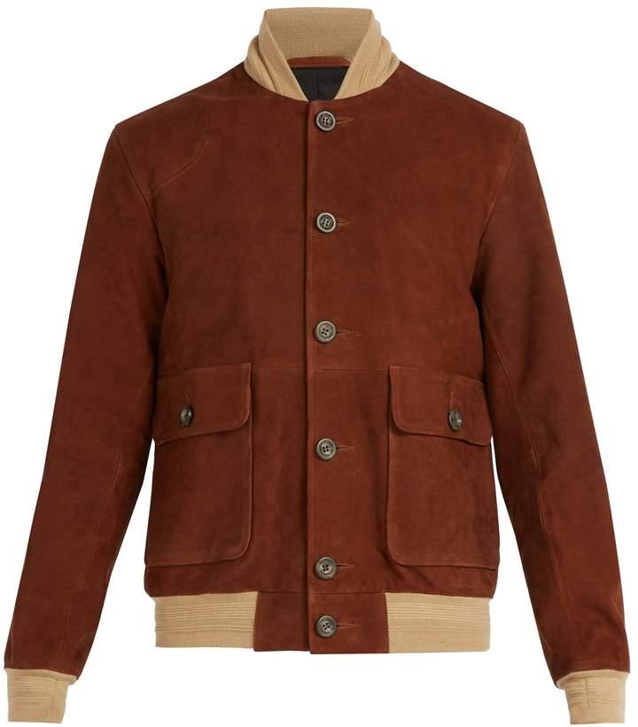 a7b4476ea Oliver Spencer Gandy suede bomber jacket | Products in 2019 ...