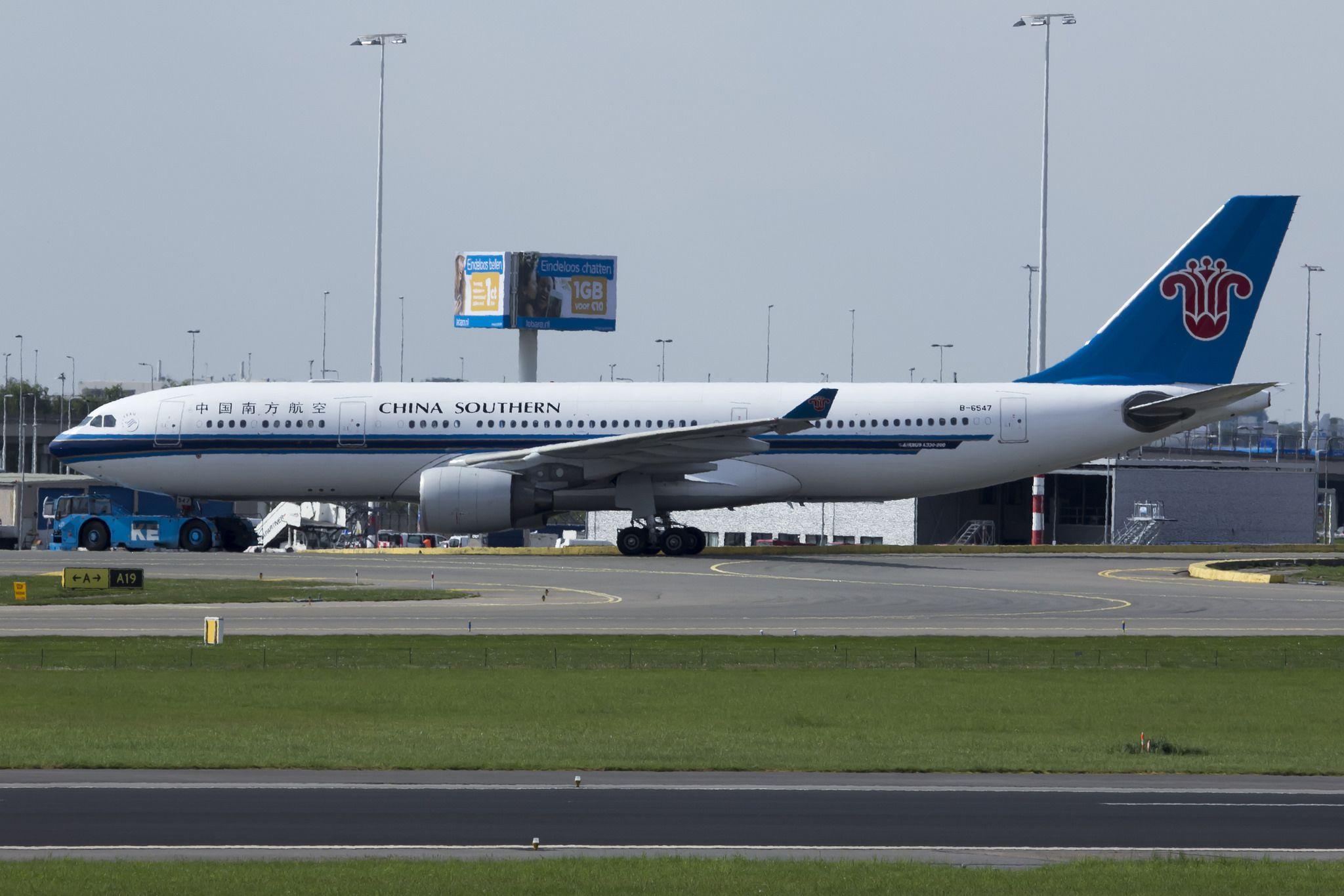 China Southern Airlines A330223 B6547 China southern