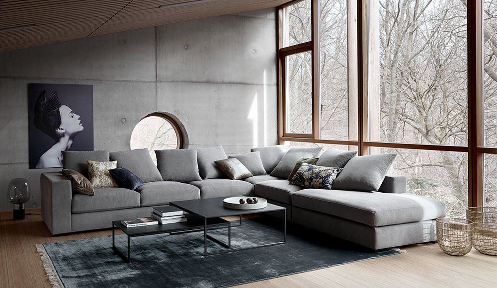 Cenova Sofa With Resting Unit The Product Is Available In Fabrics As Shown Stone Grey Frisco Fabric Aquaclean