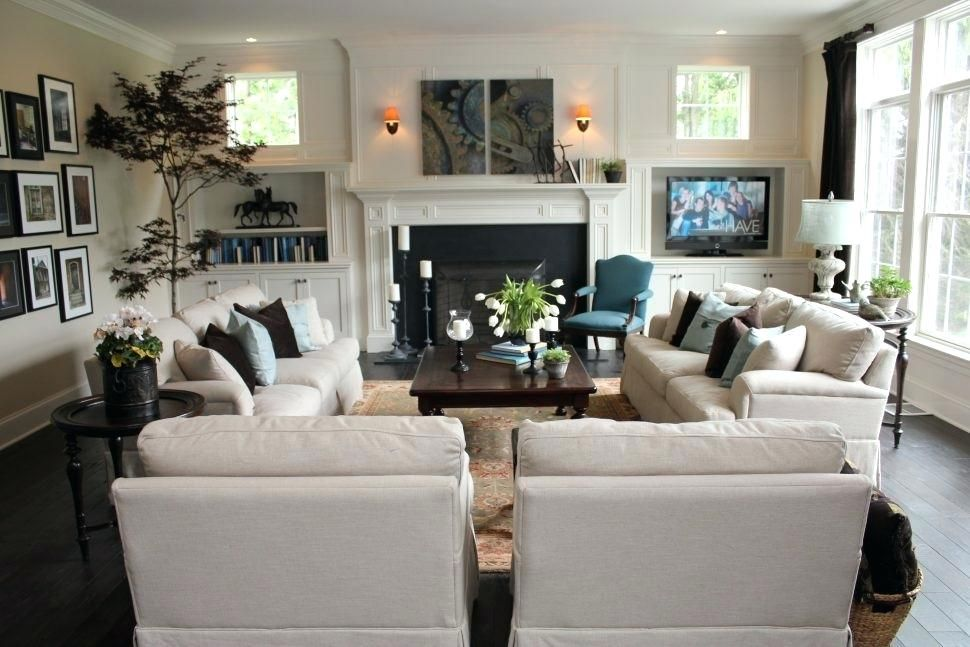 Image Result For Arrange Long Narrow Living Room With Tv And Fireplace On Separate Wall Family Room Layout Livingroom Layout Family Room Furniture Layout