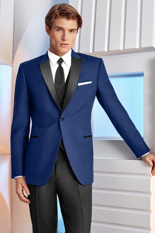 Ultra slim cobalt royal blue tribeca tuxedo #211 | More ...