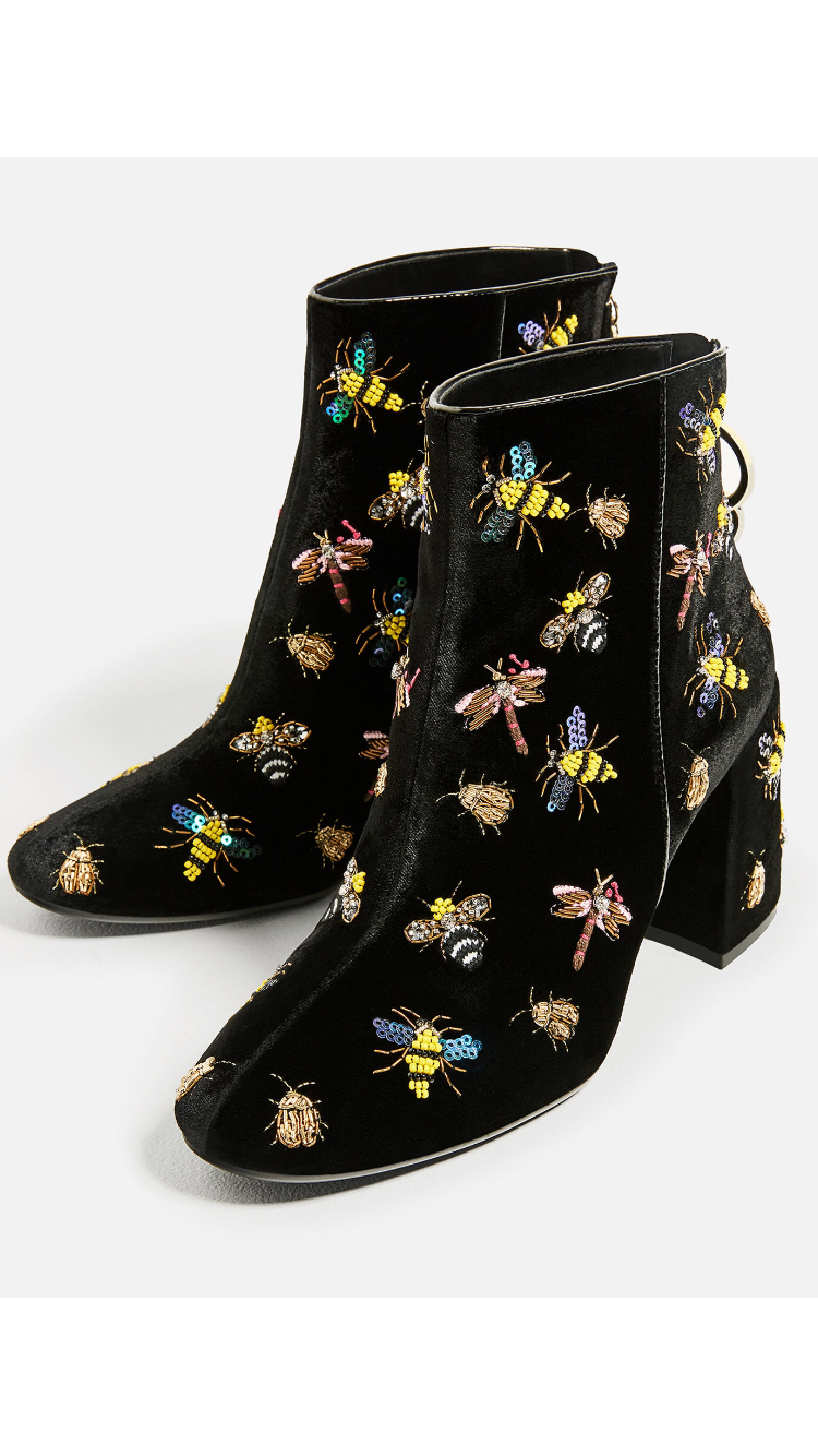 huge selection of 1d049 8d588 Zara bee ankle boots